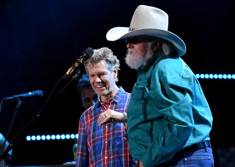 NASHVILLE, TN - JUNE 09:  Musical artists Randy Travis (L) and Charlie Daniels onstage during 2016 CMA Festival - Day 1 at Nissan Stadium on June 9, 2016 in Nashville, Tennessee.  (Photo by Rick Diamond/Getty Images)