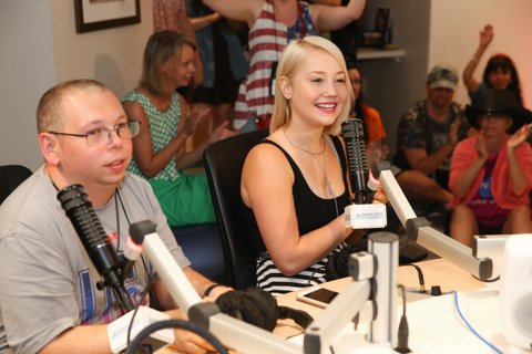 NASHVILLE, TN - JUNE 24:  Singer-songwriter RaeLynn spends time with campers during the ACM Lifting Lives Music Camp at Seacrest Studio on June 24, 2016 in Nashville, Tennessee.  (Photo by Terry Wyatt/Getty Images for Academy of Country Music)