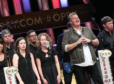 NASHVILLE, TN - JUNE 28:  ACM Lifting Lives Campers join Rascal Flatts on stage during a Performance at The Grand Ole Opry on June 28, 2016 in Nashville, Tennessee.  (Photo by Terry Wyatt/Getty Images for Academy of Country Music)