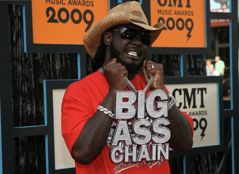 NASHVILLE, TN - JUNE 16: Rapper T-Pain attends the 2009 CMT Music Awards at the Sommet Center on June 16, 2009 in Nashville, Tennessee. (Photo by Tony R. Phipps/WireImage)
