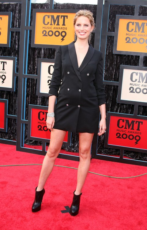 NASHVILLE, TN - JUNE 16: Karolina Kurkova attends the 2009 CMT Music Awards at the Sommet Center on June 16, 2009 in Nashville, Tennessee. (Photo by Tony R. Phipps/WireImage)