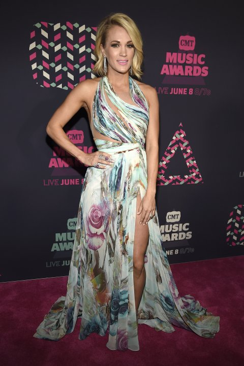 NASHVILLE, TN - JUNE 08: Musician Carrie Underwood attends the 2016 CMT Music awards at the Bridgestone Arena on June 8, 2016 in Nashville, Tennessee. (Photo by Kevin Mazur/WireImage)