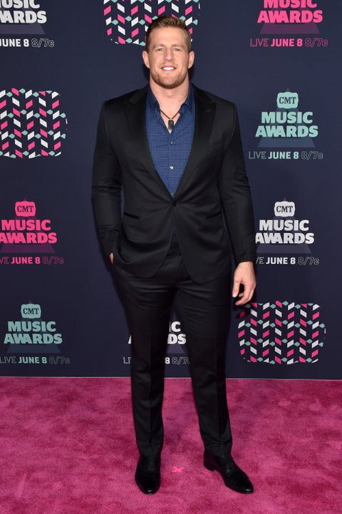 NASHVILLE, TN - JUNE 08: NFL player JJ Watt attends the 2016 CMT Music awards at the Bridgestone Arena on June 8, 2016 in Nashville, Tennessee. (Photo by John Shearer/WireImage)