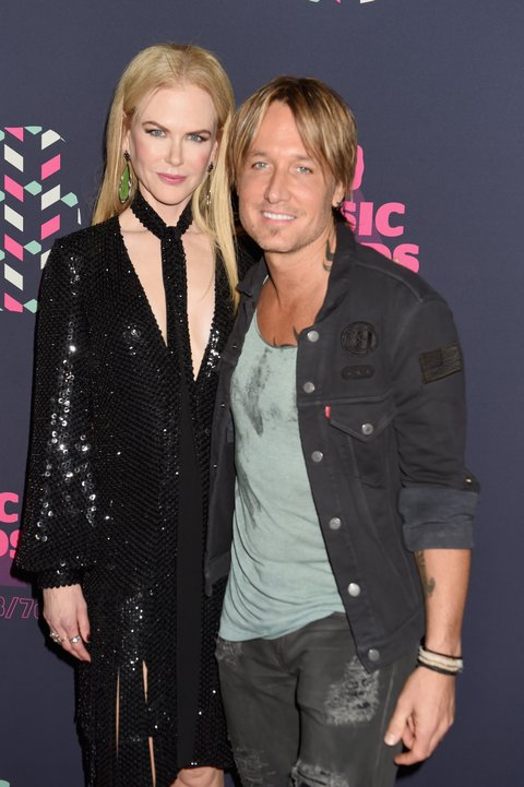 NASHVILLE, TN - JUNE 08: Nicole Kidman (L) and Keith Urban attend the 2016 CMT Music awards at the Bridgestone Arena on June 8, 2016 in Nashville, Tennessee. (Photo by Jeff Kravitz/FilmMagic)