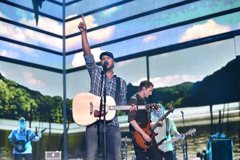 NASHVILLE, TN - JUNE 08: Singer-songwriter Luke Bryan performs onstage during the 2016 CMT Music awards at the Bridgestone Arena on June 8, 2016 in Nashville, Tennessee. (Photo by John Shearer/Getty Images for CMT)