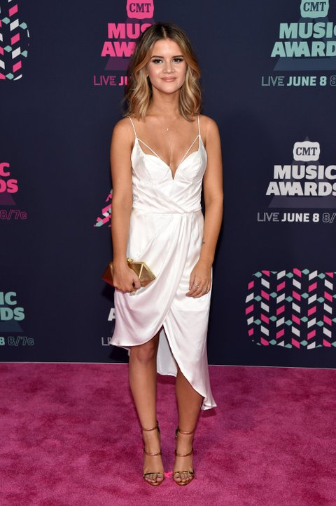NASHVILLE, TN - JUNE 08: Artist Maren Morris attends the 2016 CMT Music awards at the Bridgestone Arena on June 8, 2016 in Nashville, Tennessee. (Photo by John Shearer/WireImage)