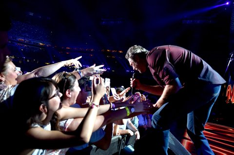 NASHVILLE, TN - JUNE 11:  Singer Blake Shelton performs onstage during 2016 CMA Festival - Day 3 at Nissan Stadium on June 11, 2016 in Nashville, Tennessee.  (Photo by John Shearer/Getty Images)