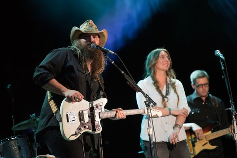 NASHVILLE, TN - JUNE 10:  Chris Stapleton performs with Morgane Stapleton during the CMA Festival at Nissan Stadium on June 10, 2016 in Nashville, Tennessee.  (Photo by Frederick Breedon IV/FilmMagic)