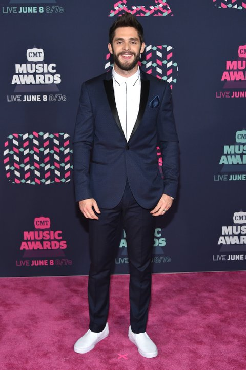 NASHVILLE, TN - JUNE 08: Singer-songwriter Thomas Rhett attends the 2016 CMT Music awards at the Bridgestone Arena on June 8, 2016 in Nashville, Tennessee. (Photo by Mike Coppola/Getty Images for CMT)