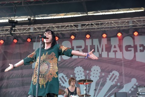 FRANKLIN, TN - SEPTEMBER 24:  Luke Spiller of The Struts performs onstage at the Pilgrimage Music & Cultural Festival - Day 1 on September 24, 2016 in Franklin, Tennessee.  (Photo by Erika Goldring/Getty Images for Pilgrimage Music & Cultural Festival)