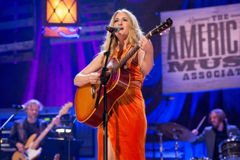 NASHVILLE, TN - SEPTEMBER 21:  Margo Price performs at Ryman Auditorium on September 21, 2016 in Nashville, Tennessee.  (Photo by Erika Goldring/WireImage)