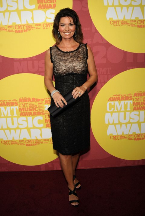 NASHVILLE, TN - JUNE 08: Singer Shania Twain attends the 2011 CMT Music Awards at the Bridgestone Arena on June 8, 2011 in Nashville, Tennessee. (Photo by Rick Diamond/Getty Images for CMT)