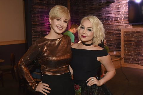 NASHVILLE, TN - NOVEMBER 01:  Singer-songwriter Maggie Rose (L) and Raelynn (R) take a photo together before CMT's Next Women of Country on November 1, 2016 in Nashville, Tennessee.  (Photo by Rick Diamond/Getty Images for CMT)
