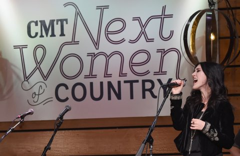 NASHVILLE, TN - NOVEMBER 01:  Singer Aubrie Sellers performs onstage during rehersals before CMT's Next Women of Country on November 1, 2016 in Nashville, Tennessee.  (Photo by Rick Diamond/Getty Images for CMT)