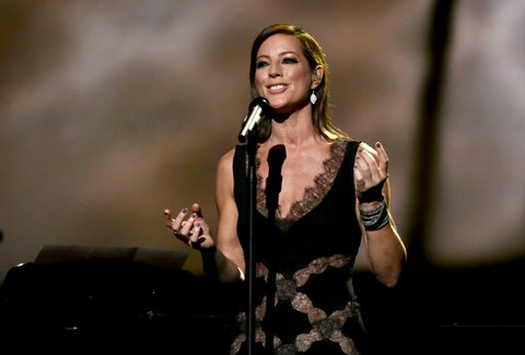 NASHVILLE, TN - NOVEMBER 08:  Singer-songwriter Sarah McLachlan performs on stage during the CMA 2016 Country Christmas on November 8, 2016 in Nashville, Tennessee.  (Photo by Rick Diamond/Getty Images)