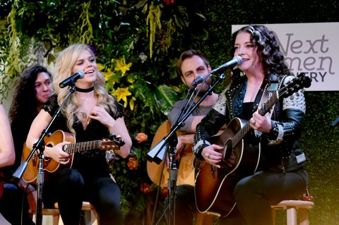 NASHVILLE, TN - NOVEMBER 07: Singer-songwriters Natalie Stovall and Ashley McBryde perform onstage during the 2017 CMT Next Women Of Country Celebration at City Winery Nashville on November 7, 2017 in Nashville, Tennessee.  (Photo by Rick Diamond/Getty Images for CMT)