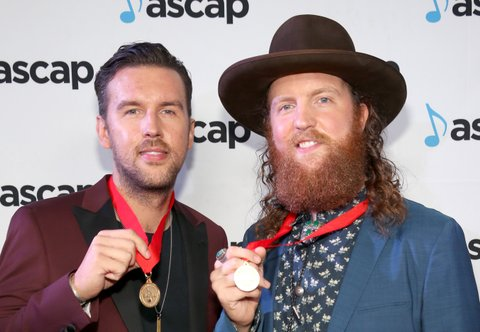 NASHVILLE, TN - OCTOBER 31:  T.J. Osborne and John Osborne of Brothers Osborne attend the 54th annual ASCAP Country Music awards at the Ryman Auditorium on October 31, 2016 in Nashville, Tennessee.  (Photo by Terry Wyatt/Getty Images)