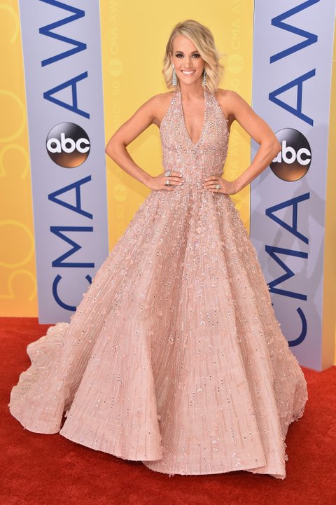 NASHVILLE, TN - NOVEMBER 02:  Singer-songwriter Carrie Underwood attends the 50th annual CMA Awards at the Bridgestone Arena on November 2, 2016 in Nashville, Tennessee.  (Photo by Michael Loccisano/Getty Images)
