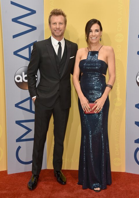 NASHVILLE, TN - NOVEMBER 02: Dierks Bentley and Cassidy Black attend the 50th annual CMA Awards at the Bridgestone Arena on November 2, 2016 in Nashville, Tennessee.  (Photo by John Shearer/WireImage)