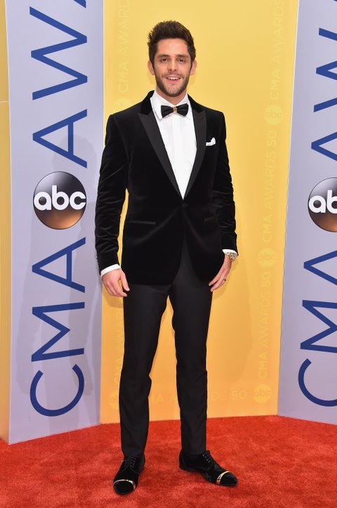 NASHVILLE, TN - NOVEMBER 02:  Singer-songwriter Thomas Rhett attends the 50th annual CMA Awards at the Bridgestone Arena on November 2, 2016 in Nashville, Tennessee.  (Photo by Michael Loccisano/Getty Images)