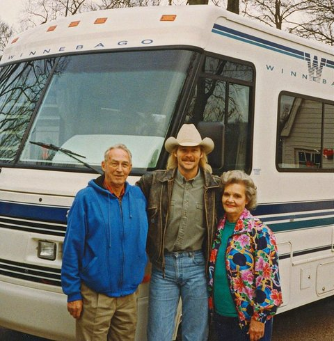 Alan Jackson and parents