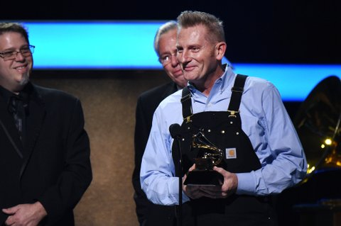 LOS ANGELES, CA - FEBRUARY 12:  Singer Joey Feek accepts the award for Best Roots Gospel Album onstage at the Premiere Ceremony during The 59th GRAMMY Awards at Microsoft Theater on February 12, 2017 in Los Angeles, California.  (Photo by Kevork Djansezian/Getty Images)