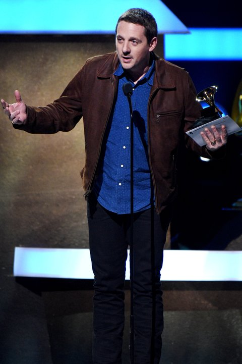 LOS ANGELES, CA - FEBRUARY 12:  Singer-songwriter Sturgill Simpson accepts the award for Best Country Album onstage at the Premiere Ceremony during The 59th GRAMMY Awards at Microsoft Theater on February 12, 2017 in Los Angeles, California.  (Photo by Kevork Djansezian/Getty Images)