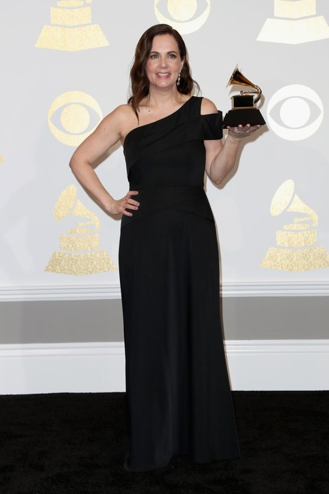 LOS ANGELES, CA - FEBRUARY 12:  Songwriter Lori McKenna, winner of Best Country Song for, 'Humble and Kind,' poses in the press room during The 59th GRAMMY Awards at STAPLES Center on February 12, 2017 in Los Angeles, California.  (Photo by Frederick M. Brown/Getty Images)
