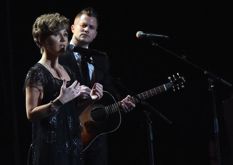 NASHVILLE, TN - FEBRUARY 27:  Clare Bowen and Brandon Robert Young perform at the T.J. Martell Foundation 9th Annual Nashville Honors Gala at Omni Hotel on February 27, 2017 in Nashville, Tennessee.  (Photo by Rick Diamond/Getty Images for T.J. Martell Foundation)