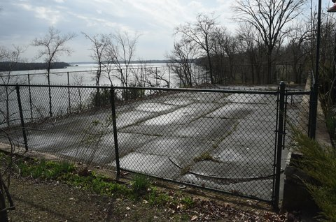 HENDERSONVILLE, TN - MARCH 01: Tennis Court at the former estate of Johnny Cash and June Carter Cash on March 1, 2017 in Hendersonville, Tennessee.  (Photo by Rick Diamond/Getty Images)
