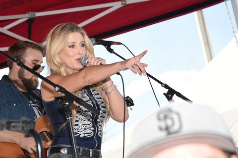 LAS VEGAS, NV - APRIL 01:  Singer Stephanie Quayle performs onstage at the ACM Party For A Cause: Tailgate Party on April 1, 2017 in Las Vegas, Nevada.  (Photo by Rick Diamond/Getty Images for ACM)