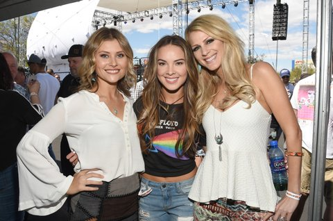 LAS VEGAS, NV - APRIL 01: (L-R) Musicians Hannah Mulholland, Naomi Cooke andJennifer Wayne at the ACM Party For A Cause: Tailgate Party on April 1, 2017 in Las Vegas, Nevada.  (Photo by Rick Diamond/Getty Images for ACM)
