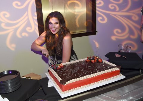 LAS VEGAS, NV - APRIL 01:  Singer Hillary Scott of Lady Antebellum celebrates her birthday backstage the ACM Party For A Cause: The Joint on April 1, 2017 in Las Vegas, Nevada.  (Photo by Rick Diamond/Getty Images for ACM)