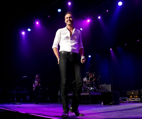 LAS VEGAS, NV - APRIL 01:  Drew Baldridge performs onstage during the 5th ACM Party for a Cause held at The Joint inside the Hard Rock Hotel & Casino on April 1, 2017 in Las Vegas, Nevada.  (Photo by Michael Tran/FilmMagic)