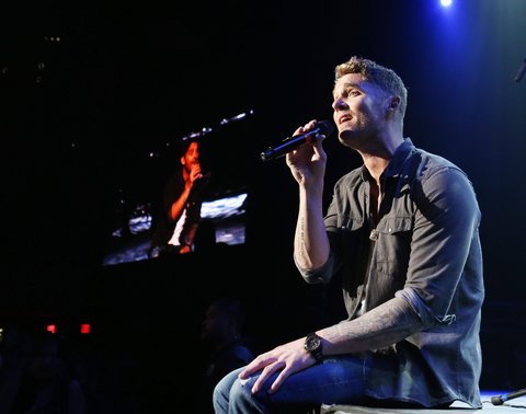LAS VEGAS, NV - APRIL 01:  Brett Young performs onstage during the 5th ACM Party for a Cause held at The Joint inside the Hard Rock Hotel & Casino on April 1, 2017 in Las Vegas, Nevada.  (Photo by Michael Tran/FilmMagic)