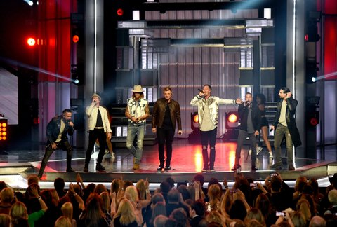 LAS VEGAS, NV - APRIL 02:  Music groups Florida Georgia Line and Backstreet Boys perform onstage during the 52nd Academy Of Country Music Awards at T-Mobile Arena on April 2, 2017 in Las Vegas, Nevada.  (Photo by Ethan Miller/Getty Images)