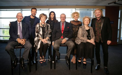 Five-time CMA Vocal Group of the Year Little Big Town is surprised by their former music teachers on Wednesday, April 26, 2017 at Nissan Stadium in Nashville, Tennessee as part of the CMA Foundation's Music Teachers of Excellence event. Little Big Town was host of the gala, and the group's Karen Fairchild serves on the CMA Foundation Board of Directors.
