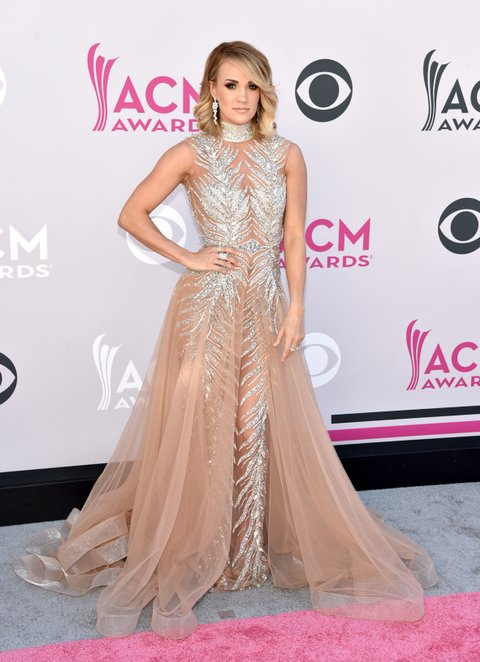 LAS VEGAS, NV - APRIL 02:  Singer-songwriter Carrie Underwood attends the 52nd Academy Of Country Music Awards at Toshiba Plaza on April 2, 2017 in Las Vegas, Nevada.  (Photo by John Shearer/WireImage)