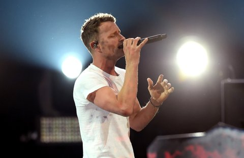 LAS VEGAS, NV - APRIL 02:  Co-host Dierks Bentley performs onstage during the 52nd Academy Of Country Music Awards at T-Mobile Arena on April 2, 2017 in Las Vegas, Nevada.  (Photo by Ethan Miller/Getty Images)