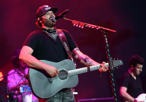 INDIO, CA - APRIL 28:  Singer Randy Houser performs on the Toyota Mane Stage stage during day 1 of 2017 Stagecoach California's Country Music Festival at the Empire Polo Club on April 28, 2017 in Indio, California.  (Photo by Kevin Winter/Getty Images for Stagecoach)