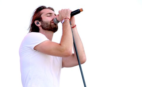 INDIO, CA - APRIL 28:  Singer Ryan Hurd performs on the Toyota Mane Stage stage during day 1 of 2017 Stagecoach California's Country Music Festival at the Empire Polo Club on April 28, 2017 in Indio, California.  (Photo by Kevin Winter/Getty Images for Stagecoach)