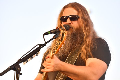 INDIO, CA - APRIL 29:  Musician Jamey Johnson performs on the Palomino Stage during day 2 of 2017 Stagecoach California's Country Music Festival at the Empire Polo Club on April 29, 2017 in Indio, California.  (Photo by Frazer Harrison/Getty Images for Stagecoach)