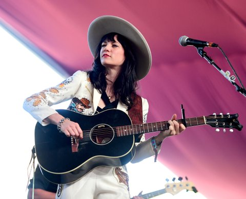 INDIO, CA - APRIL 29:  Singer Nikki Lane performs on the Mustang Stage during day 2 of 2017 Stagecoach California's Country Music Festival at the Empire Polo Club on April 29, 2017 in Indio, California.  (Photo by Matt Winkelmeyer/Getty Images for Stagecoach)