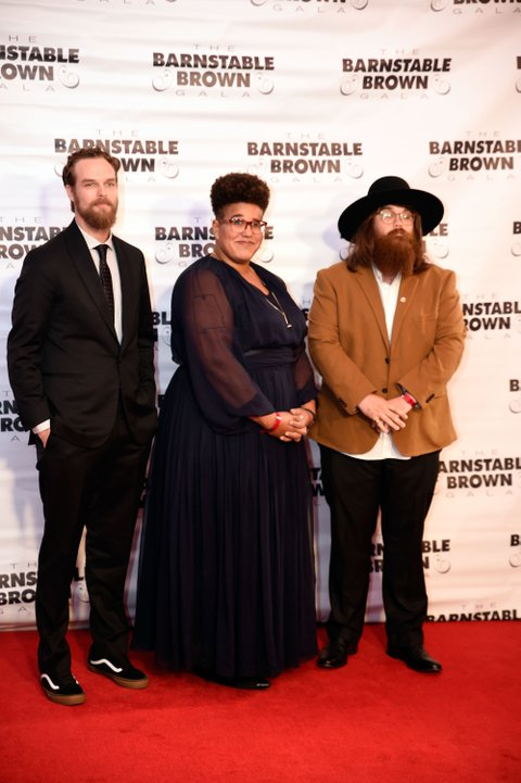 LOUISVILLE, KY - MAY 06:  Steve Johnson, Brittany Howard and Zac Cockrell of Alabama Shakes attends the Barnstable Brown House on May 6, 2016 in Louisville, Kentucky.  (Photo by Stephen J. Cohen/WireImage)