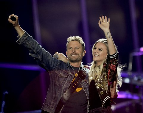AUSTIN, TX - MAY 06:  Dierks Bentley and Kelsea Ballerini perform at the 2017 iHeartCountry Music Festival at The Frank Erwin Center on May 6, 2017 in Austin, Texas.  (Photo by Tibrina Hobson/WireImage)
