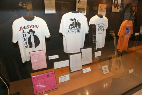NASHVILLE, TN - MAY 25:  A view of the Jason Aldean Exhibit  during Country Music Hall of Fame and Museum Celebrates Opening of Jason Aldean Exhibit on May 25, 2017 in Nashville, Tennessee.  (Photo by Terry Wyatt/Getty Images for Country Music Hall Of Fame & Museum)