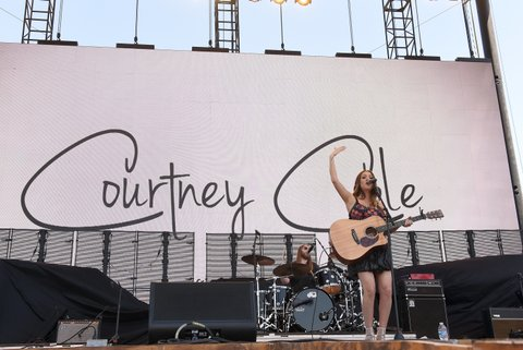 INDIO, CA - APRIL 30:  Singer Courtney Cole performs on the Toyota Mane Stage during day 3 of 2017 Stagecoach California's Country Music Festival at the Empire Polo Club on April 30, 2017 in Indio, California.  (Photo by Kevin Winter/Getty Images for Stagecoach)