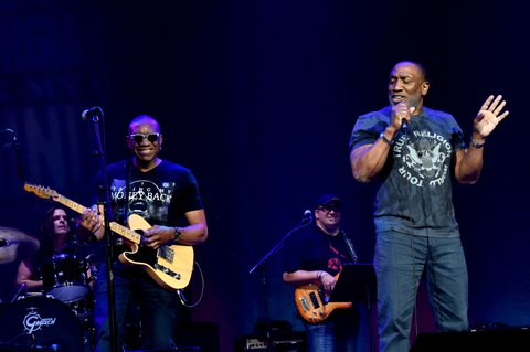 NASHVILLE, TN - MAY 16:  Otis Redding III and Dexter Redding perform onstage during the 4th Annual Georgia On My Mind presented by Jameson Irish Whiskey at Ryman Auditorium on May 16, 2017 in Nashville, Tennessee.  (Photo by Rick Diamond/Getty Images for Georgia Music Foundation)
