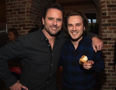 NASHVILLE, TN - MARCH 16: Nashville cast members Charles Esten and Johathan Jackson attend NASHVILLE 100th Episode Celebration on March 16, 2017 in Nashville, Tennessee. (Photo by Rick Diamond/Getty Images for CMT)
