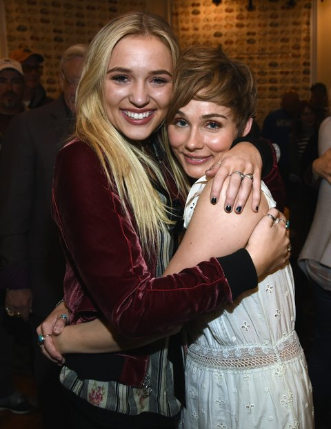 NASHVILLE, TN - MARCH 16: Nashville cast members Lennon Stella and Clare Bowen attend NASHVILLE 100th Episode Celebration on March 16, 2017 in Nashville, Tennessee. (Photo by Rick Diamond/Getty Images for CMT)